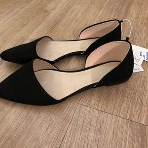 Old navy pointed flats size 8 black
